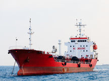 Red tanker Royalty Free Stock Photos