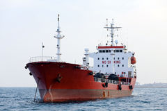 Red tanker Royalty Free Stock Images