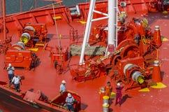 Tankship prow detail royalty free stock photography