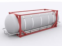 Red tanktainer Stock Photography