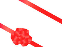 Red tape with a bow. Packing of a celebratory gift Stock Photos