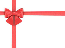 Red tape with a bow Stock Image