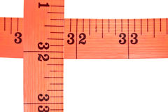 Red tape measure Stock Images