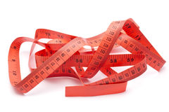 Red tape measure Royalty Free Stock Photos