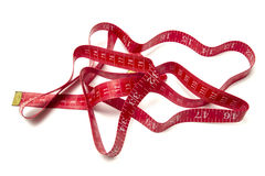 Red tape measure Stock Photos