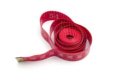 Red tape measure Stock Photography