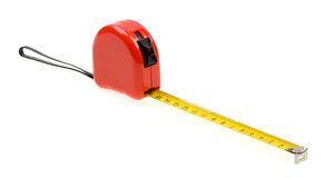 Red tape measure isolated on white Royalty Free Stock Photos