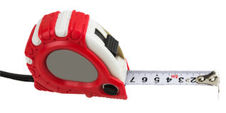 Red tape measure Royalty Free Stock Image
