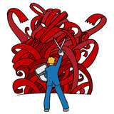 Red Tape Monster Stock Photo