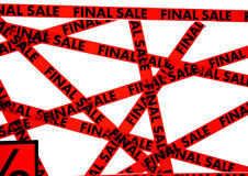 Red tape with the words FINAL SALE Stock Images