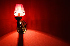 Red Tapestry. Red lamp and tapestry of a whore house Stock Images