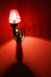 Red Tapestry. Red lamp and tapestry of a whore house Royalty Free Stock Images