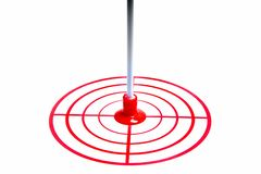 Red target and an arrow isolated on white background Stock Photos
