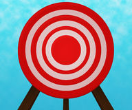 Red Target Background Stock Photos