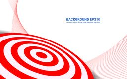 Red target board on white background. Vector isolated template for business goal. stock illustration