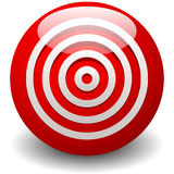 Red target, bullseye, accuracy, precision icon - Concentric circ Royalty Free Stock Photography