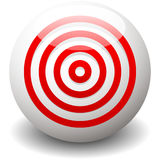 Red target, bullseye, accuracy, precision icon - Concentric circ Stock Photo