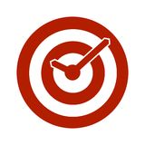 Red target conceptual clock icon Stock Photo
