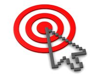 Target and Cursor 3D Royalty Free Stock Images