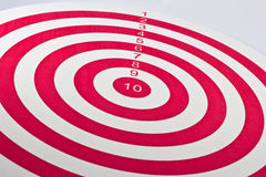 Red target dart board Royalty Free Stock Photo