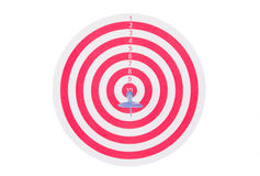 Red target with dart Royalty Free Stock Photos