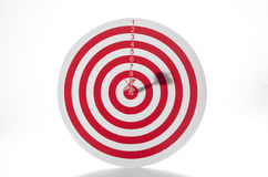Red target with dart Royalty Free Stock Photo