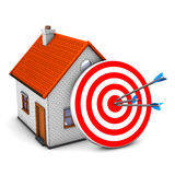 Red Target House Royalty Free Stock Photography