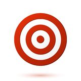 Red target icon. Vector illustration Stock Photography