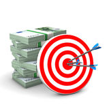 Red Target Money Royalty Free Stock Photo