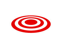 Red Target. Template, isolated on white background Royalty Free Stock Image