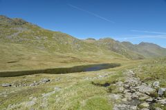 Free Red Tarn Beneath Crinkle Crags, Lake District Royalty Free Stock Photo - 137902095