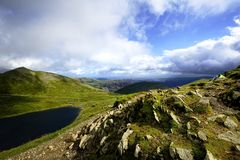 Red Tarn and Birkhouse Moor Stock Images