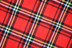 Red tartan background Stock Photo