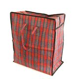 Red tartan bag Royalty Free Stock Photos