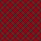 Red tartan check background. Stock Images