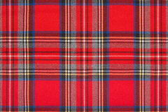 Red tartan, checkered scottish fabric macro, background. Red tartan, checkered scottish fabric macro, texture background Royalty Free Stock Photos