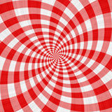 Red tartan cloth swirl. Texture of swirling repeating red and white blocks Stock Photography