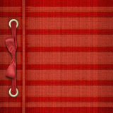 Red tartan cover for album Royalty Free Stock Photos