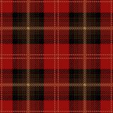 Red Tartan Plaid Seamless Scottish Pattern. Red, brown and black tartan plaid seamless Scottish pattern design of clan Sutherland royalty free illustration