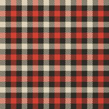 Red tartan plaid vector Royalty Free Stock Photography