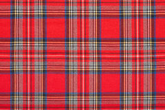 Red tartan scottish fabric texture background. High detailed Stock Image