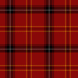 Red Tartan Seamless Pattern. (red, black, white and yellow Royalty Free Stock Image