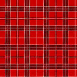 Red tartan. Seamless pattern. Royalty Free Stock Image