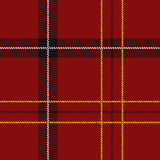 Red Tartan Seamless Pattern Stock Images