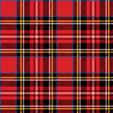Red tartan.Traditional fabric seamless pattern Royalty Free Stock Photo