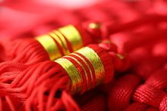Red Tassel. S of China knot - a kind of adornment in festival Royalty Free Stock Images