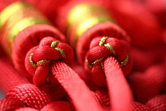 Red Tassel. S of China tie - a kind of adornment in festival Stock Images