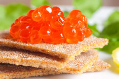 Red tasty caviar Royalty Free Stock Photo