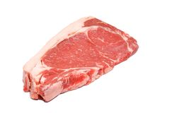Red and Tasty Steak isolated on white background Royalty Free Stock Images