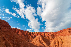 Red Desert and Blue Sky Royalty Free Stock Image
